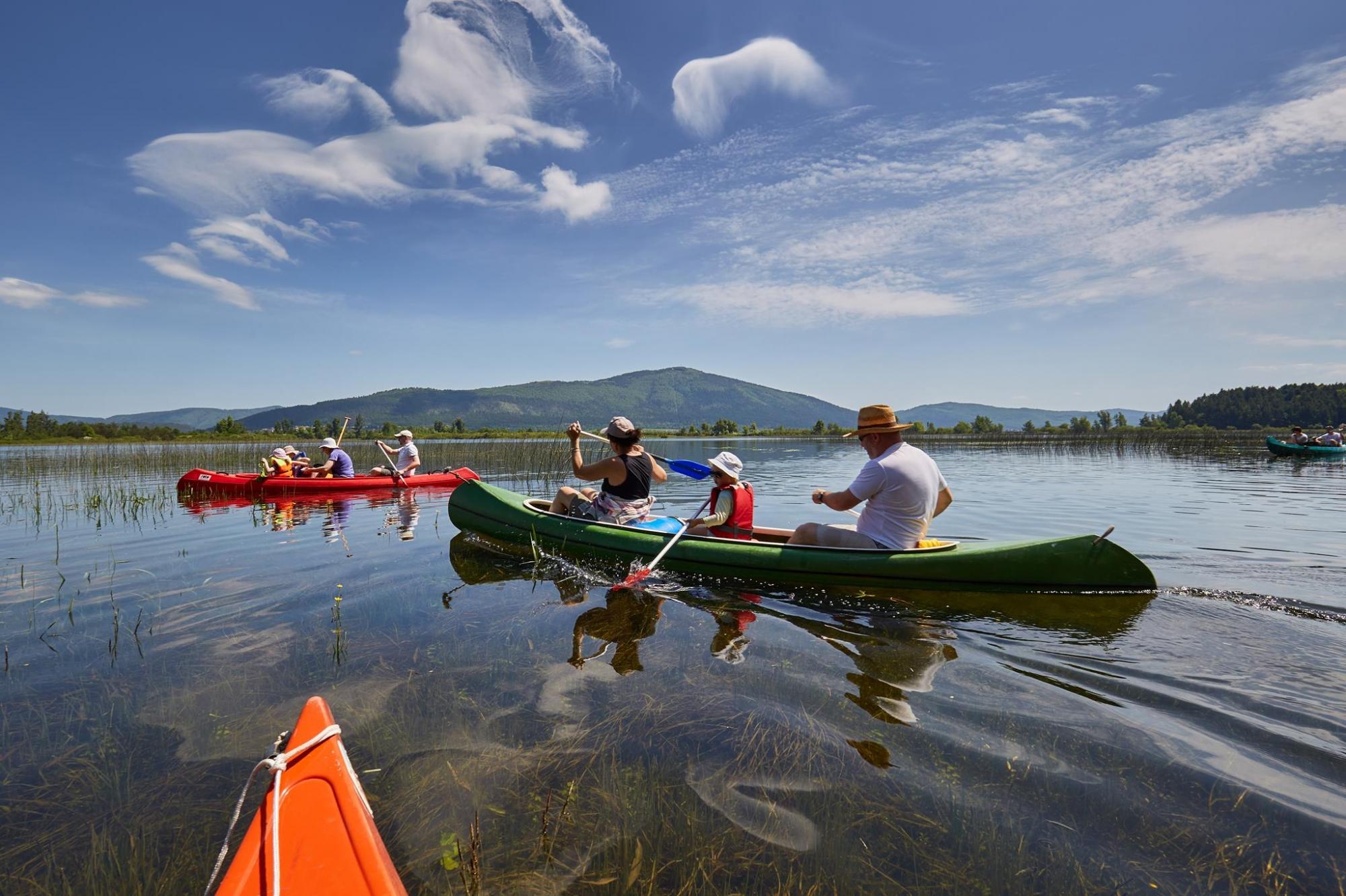 Kanuarjenje po Cerkniškem jezeru