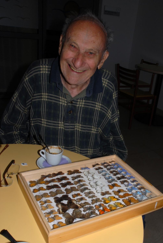 3.Spoštovanega mentorja smo učenci obiskovali tudi v njegovi visoki starosti. Dom starejših občanov Lucija, 23.0.2009. Foto: Slavko Polak