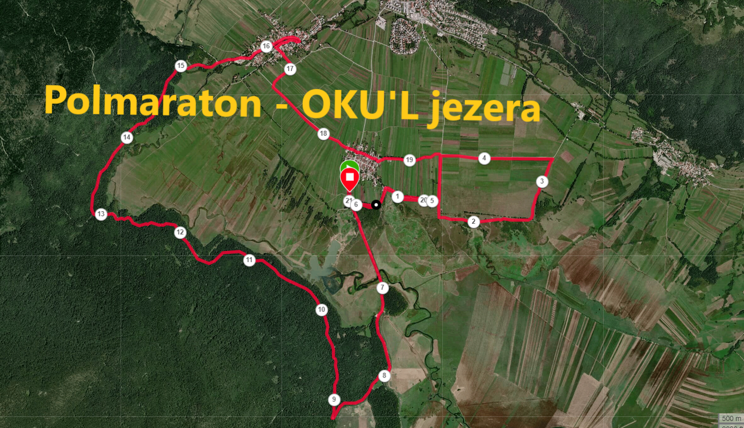 Zemljevid trase