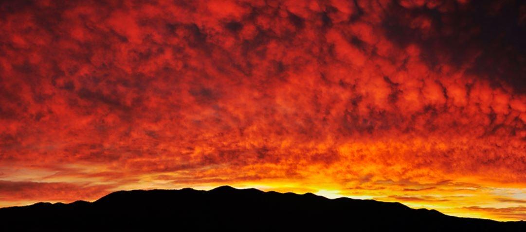 Sončni zahod nad Javorniki