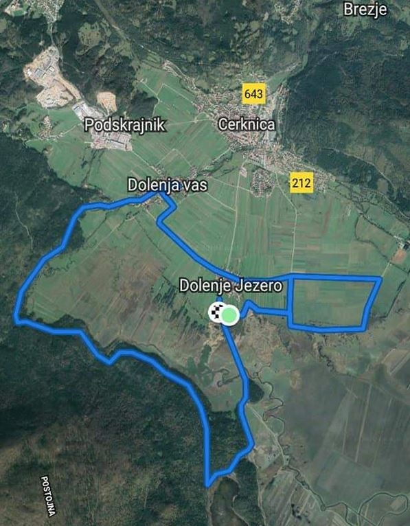 Trasa polmaratona Okul' jezera