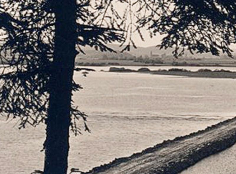 1930 Cerkniško jezero – Razglednica nasipa