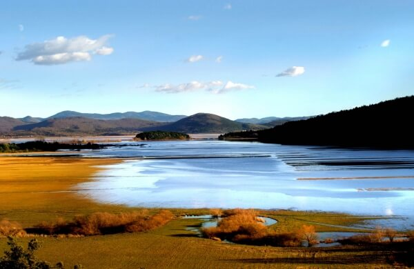 Lake Cerknica, filled with water