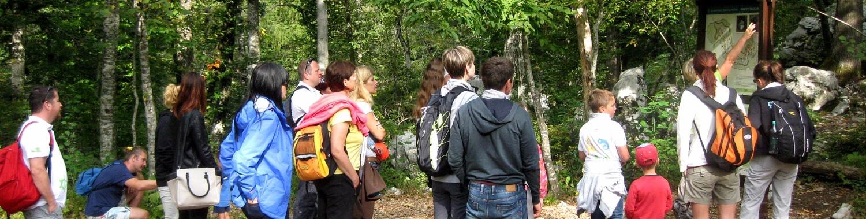 Izhodišče učne poti ob Malem naravnem mostu